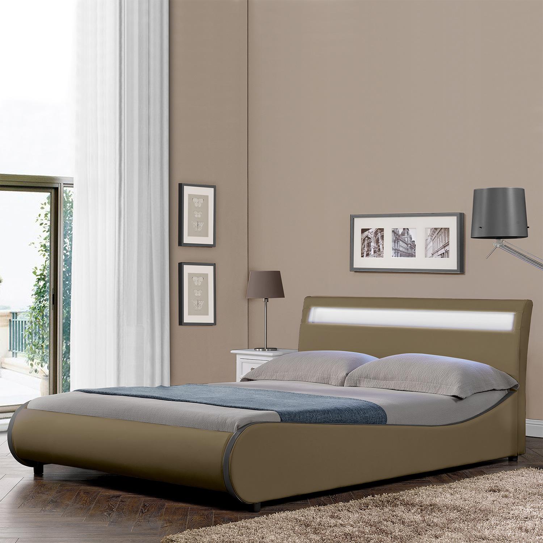 corium design led polsterbett 140 180 x 200cm kunst leder doppel ehe bett ebay. Black Bedroom Furniture Sets. Home Design Ideas
