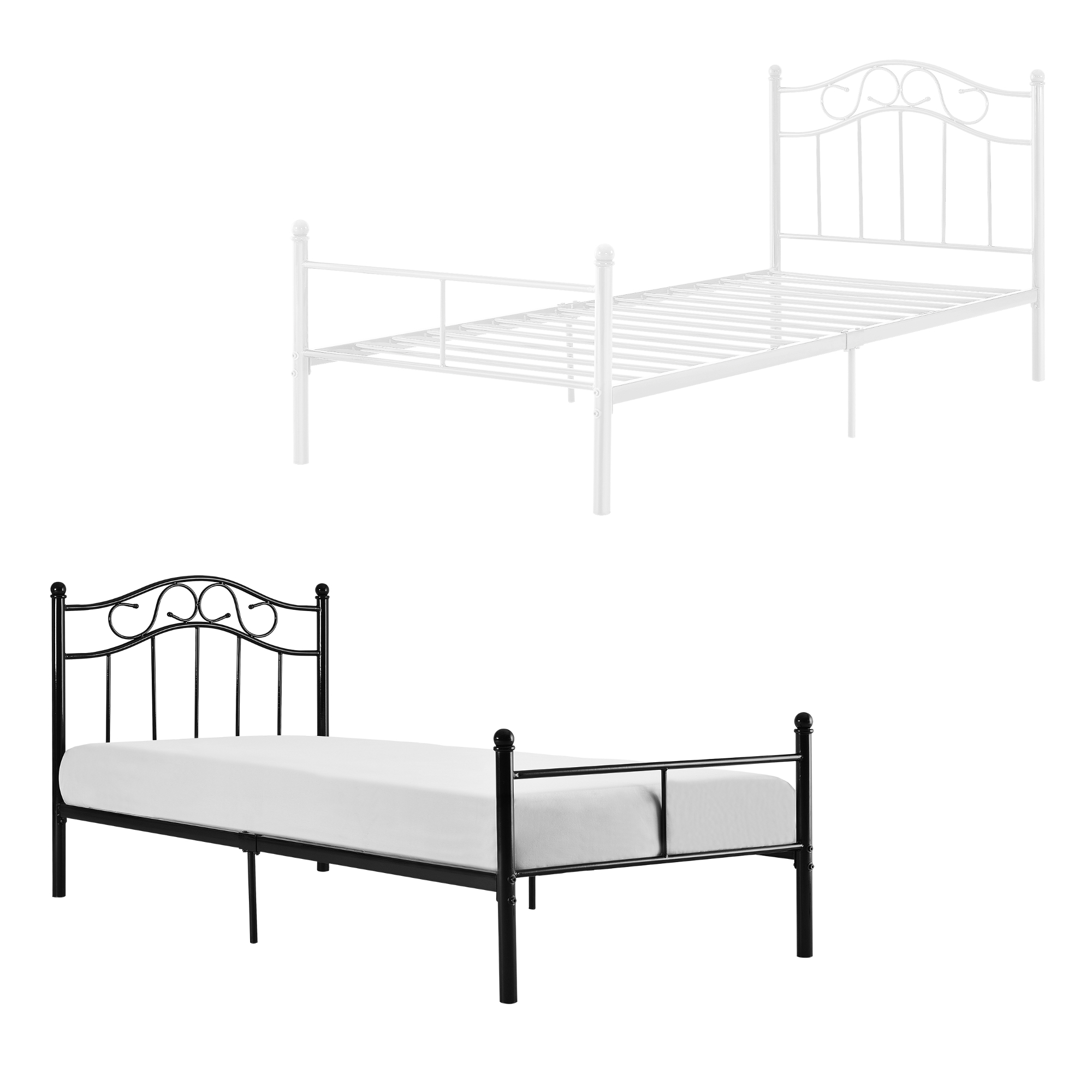 metallbett 90 120 140 180 200x200 bett bettgestell doppelbett ehebett ebay. Black Bedroom Furniture Sets. Home Design Ideas