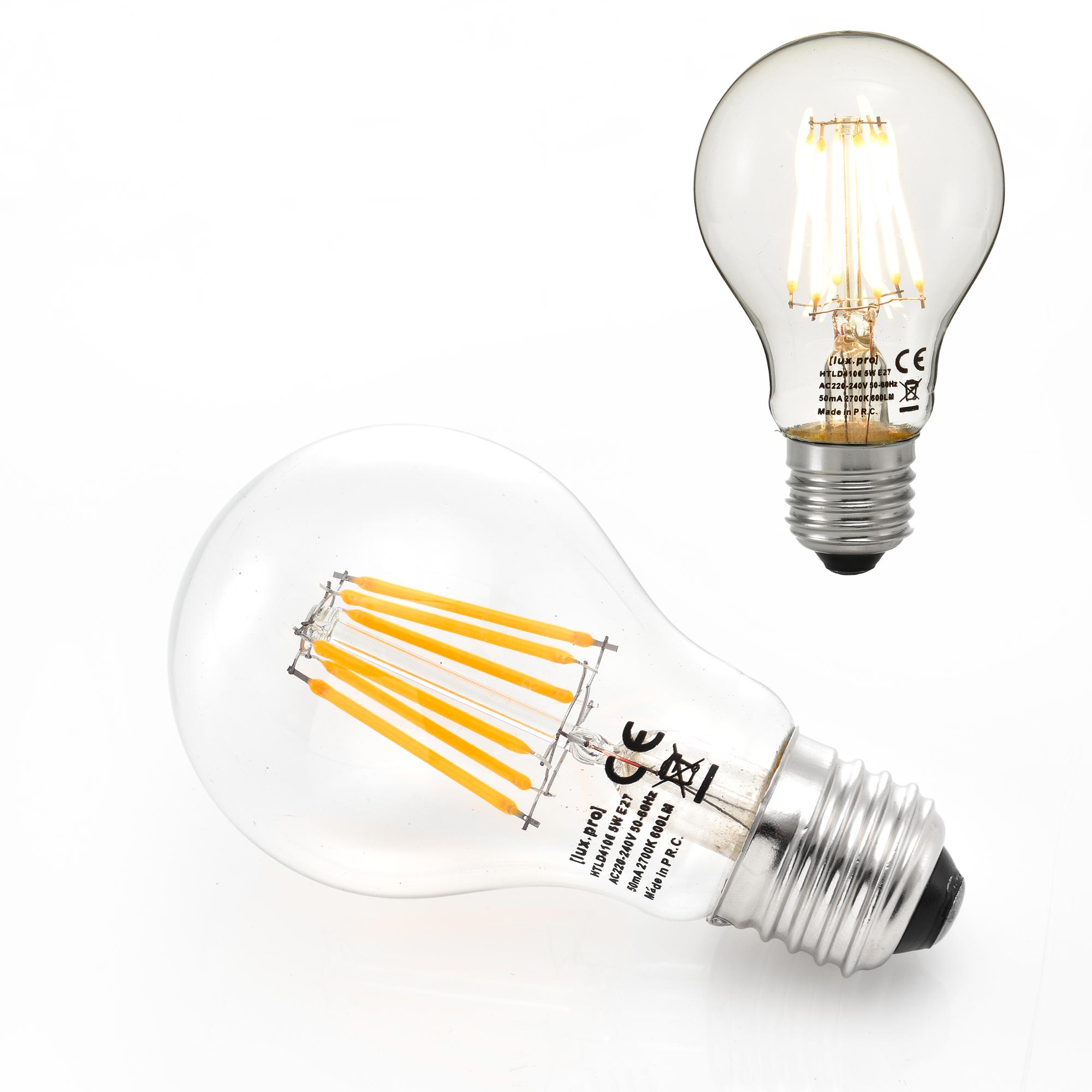 led e14 e27 warmwei filament leuchtmittel 2700k. Black Bedroom Furniture Sets. Home Design Ideas