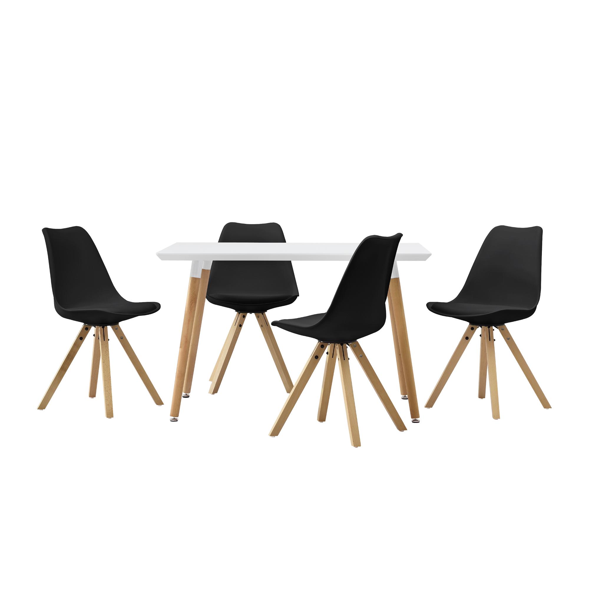 esstisch 120x80cm mit st hlen k chentisch esszimmer tisch essgruppe ebay. Black Bedroom Furniture Sets. Home Design Ideas