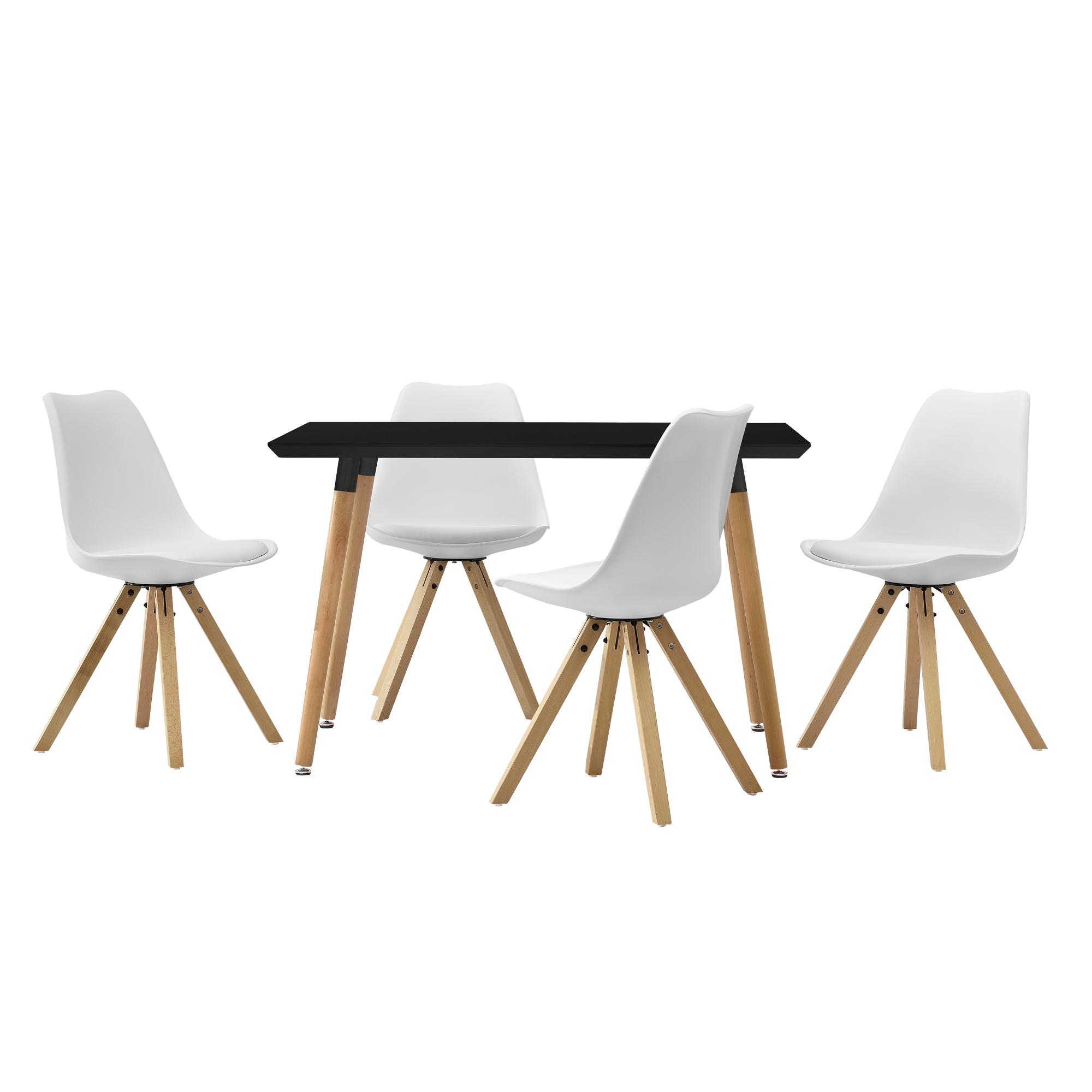 esstisch 120x80cm mit st hlen k chentisch. Black Bedroom Furniture Sets. Home Design Ideas