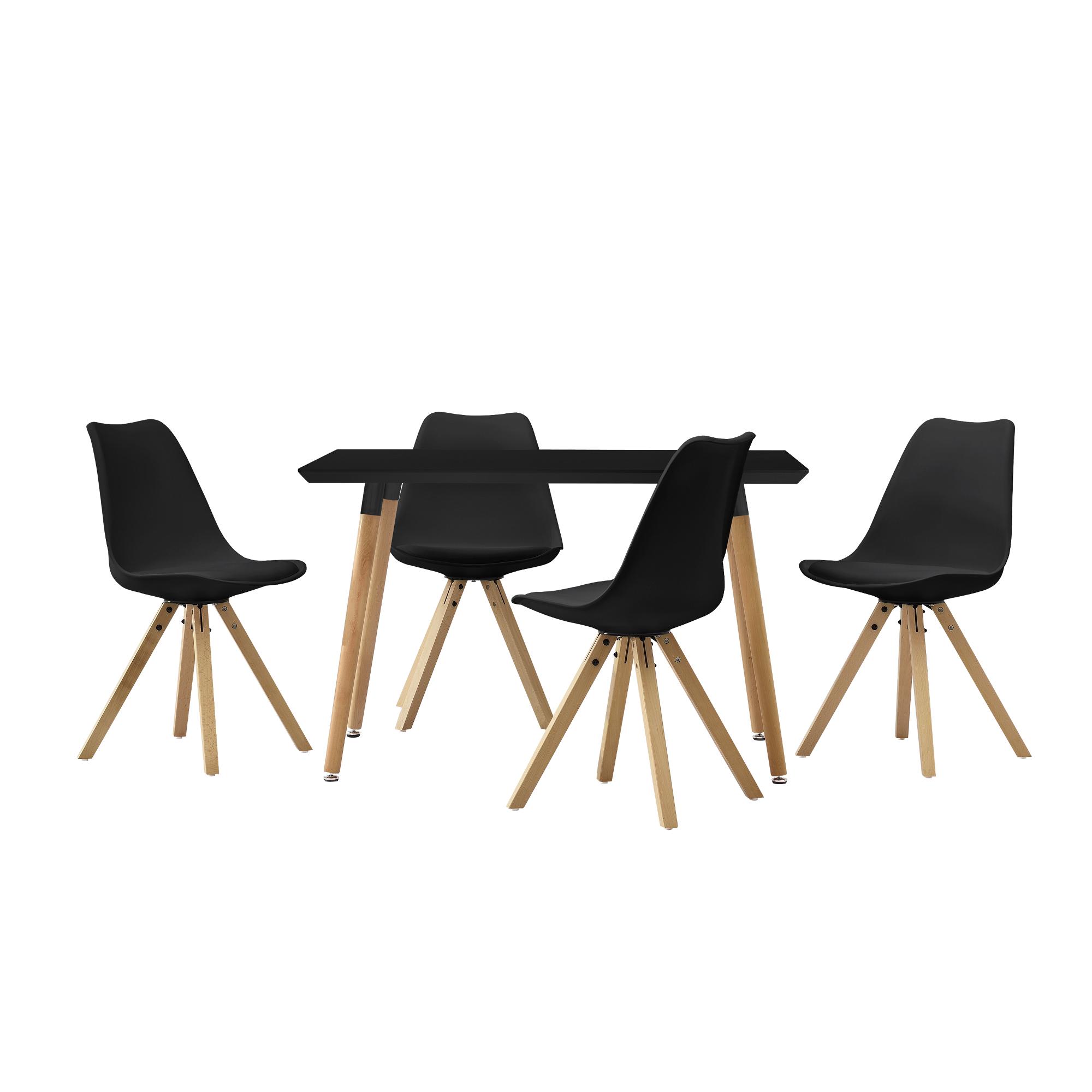 en.casa]® Esstisch 120x70cm mit Stühlen Küchentisch Esszimmer Tisch ...