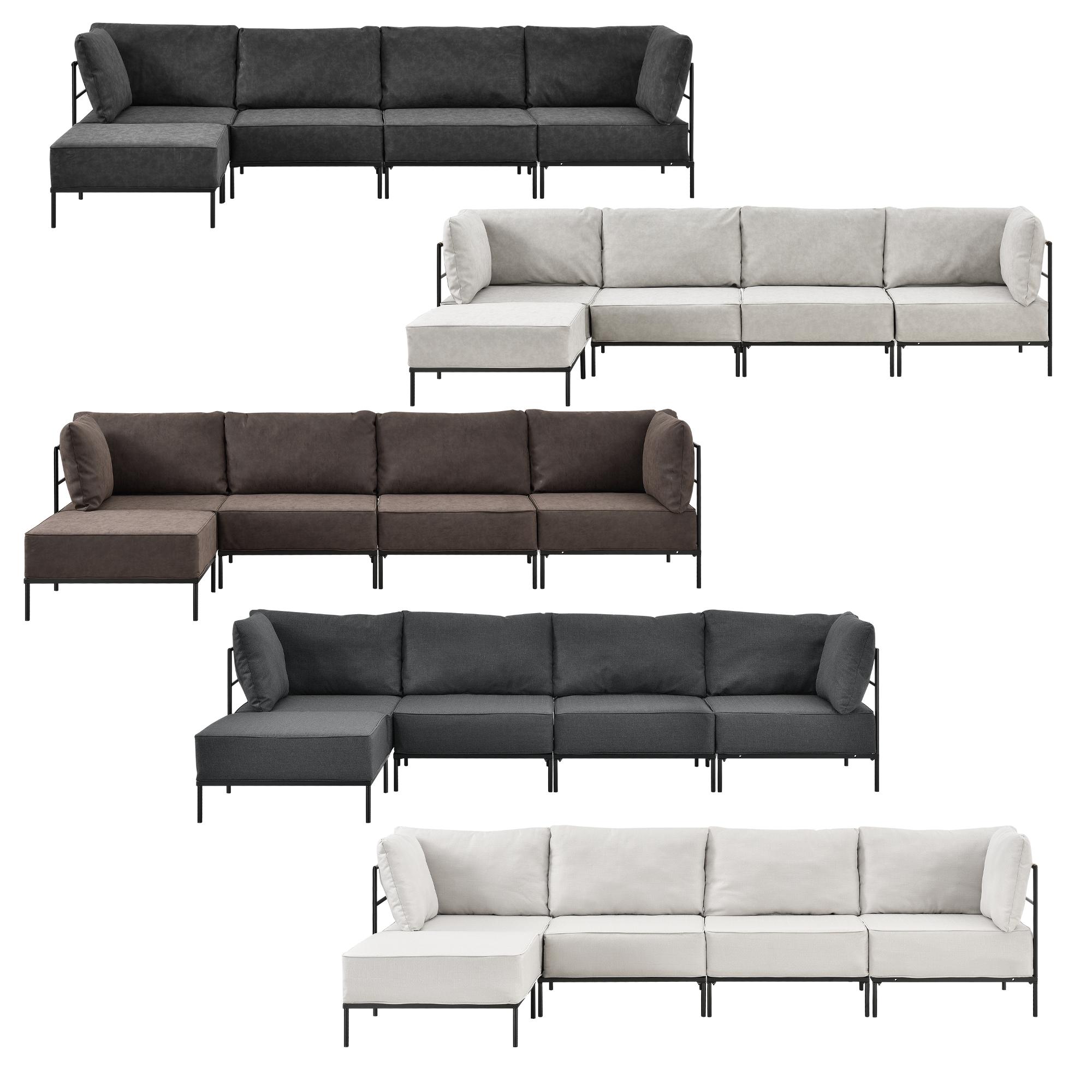 sofa couch sessel polstergarnitur wohnlandschaft garnitur kunst leder ebay. Black Bedroom Furniture Sets. Home Design Ideas