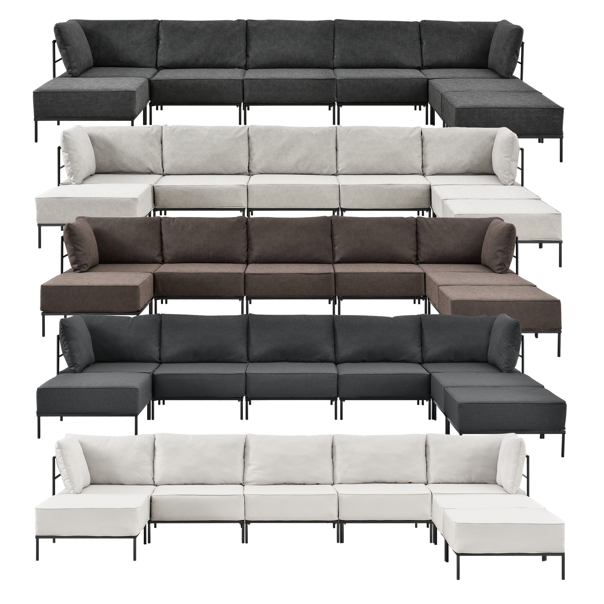 Sofa couch sessel polstergarnitur for Wohnlandschaft 8 personen