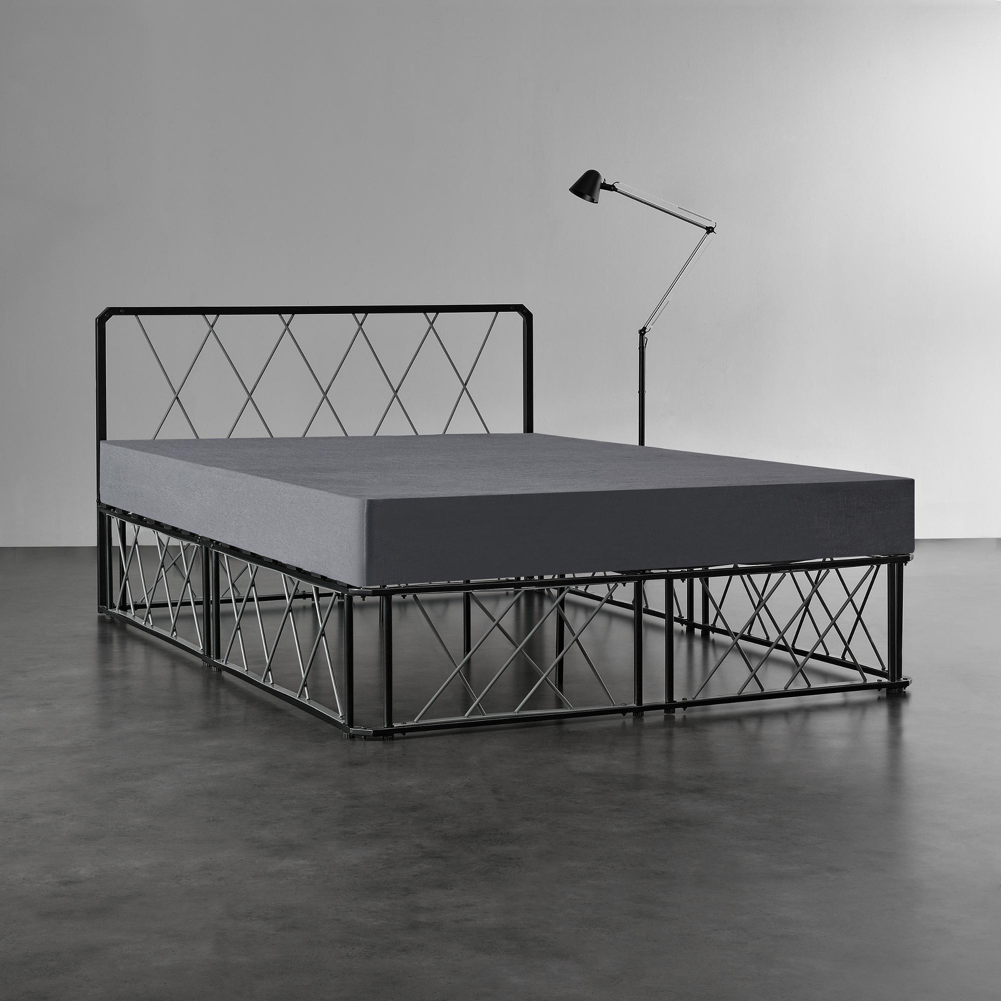 metallbett 140 180 x200 schwarz grau matratze design bett schlafzimmer ebay. Black Bedroom Furniture Sets. Home Design Ideas